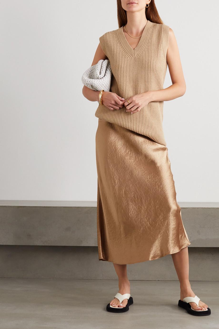 Max Mara Leisure 水洗缎布中长半身裙