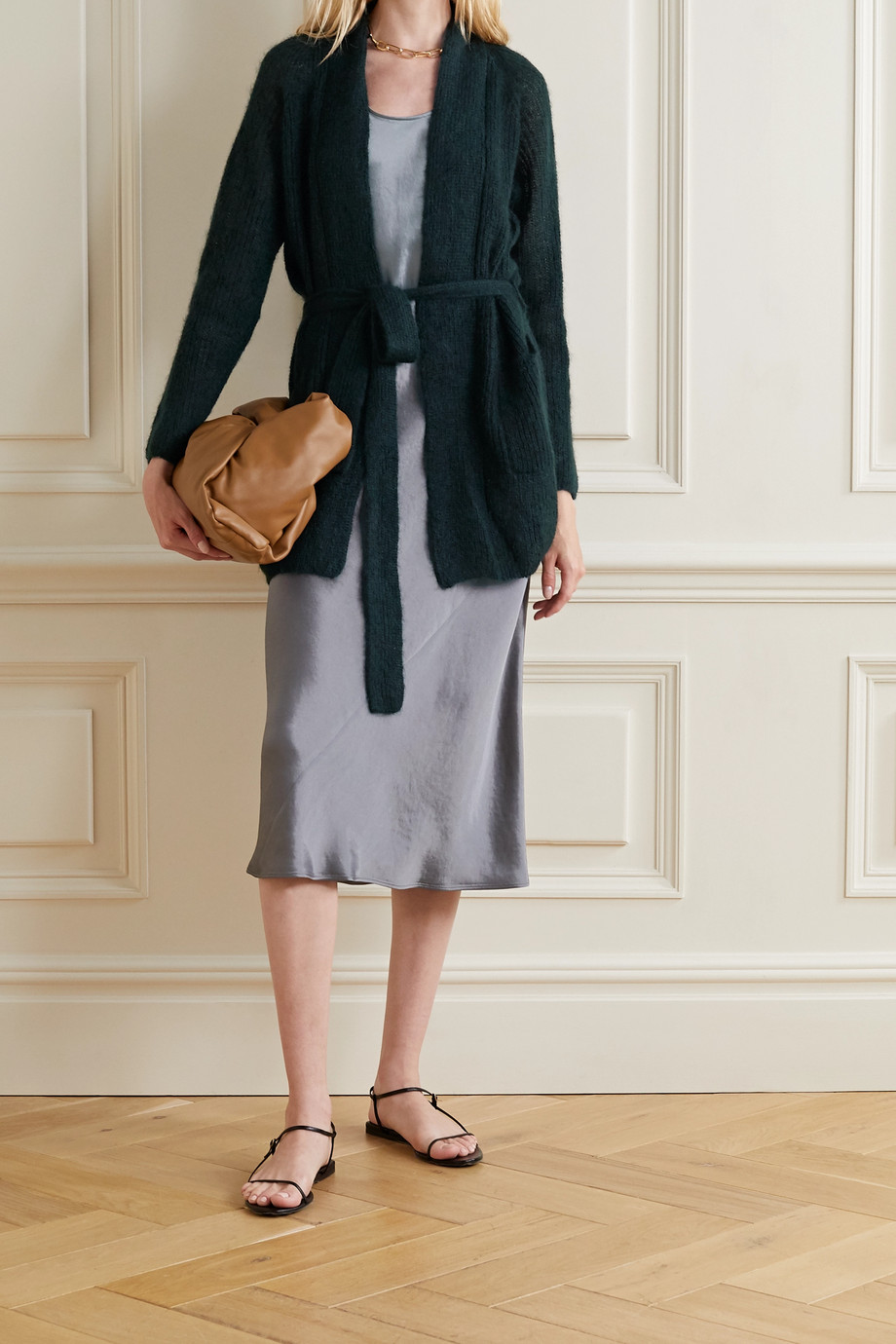 Max Mara Leisure belted mohair-blend cardigan