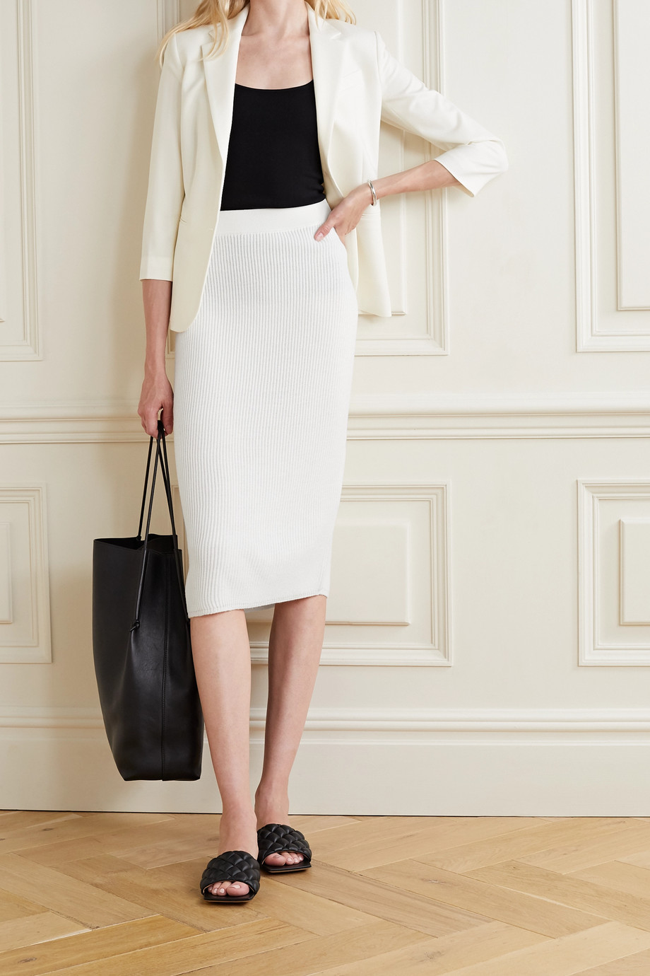 Max Mara Leisure Emerson ribbed wool midi skirt