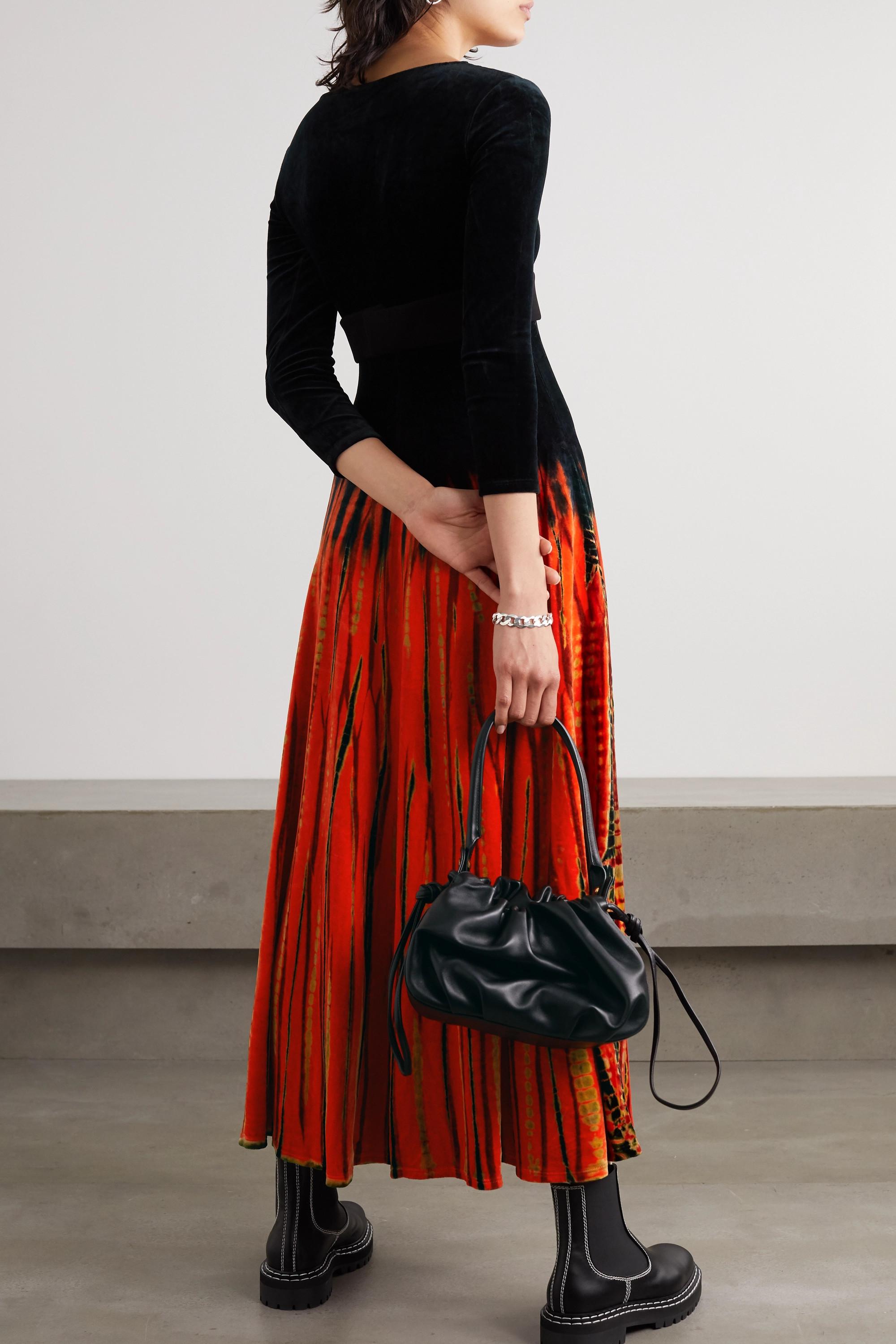 Proenza Schouler Tie-dyed velvet maxi dress