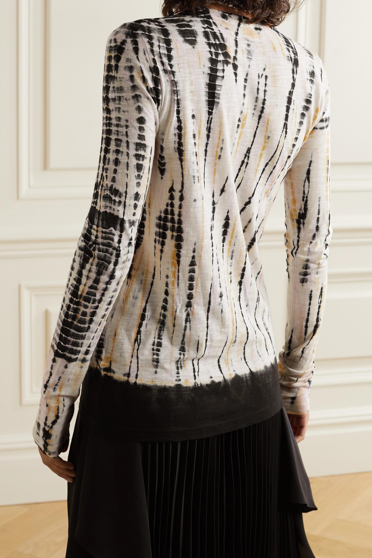 Proenza Schouler Tie-dyed cotton-jersey top