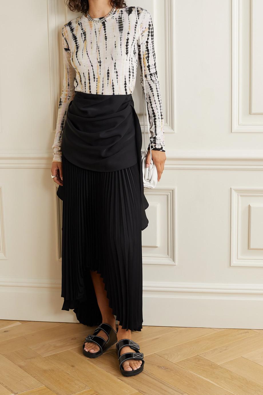 Proenza Schouler Oberteil aus Baumwoll-Jersey mit Batikmuster