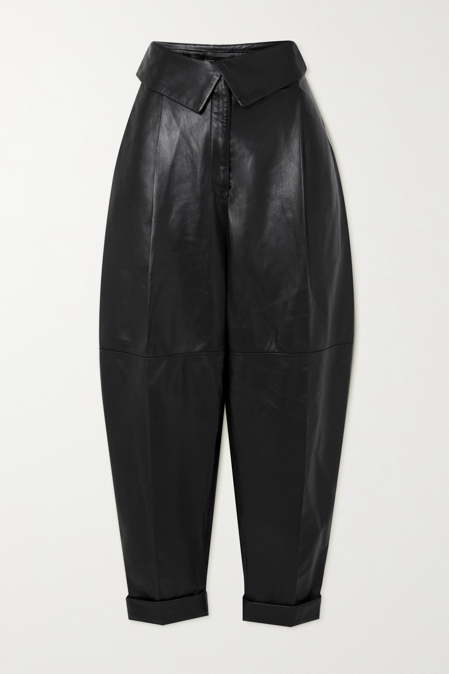 Proenza Schouler Pleated leather tapered pants