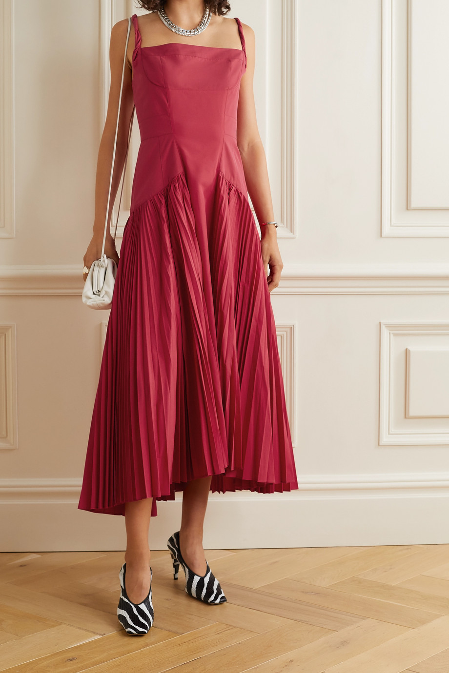 Proenza Schouler Pleated cotton-blend poplin dress