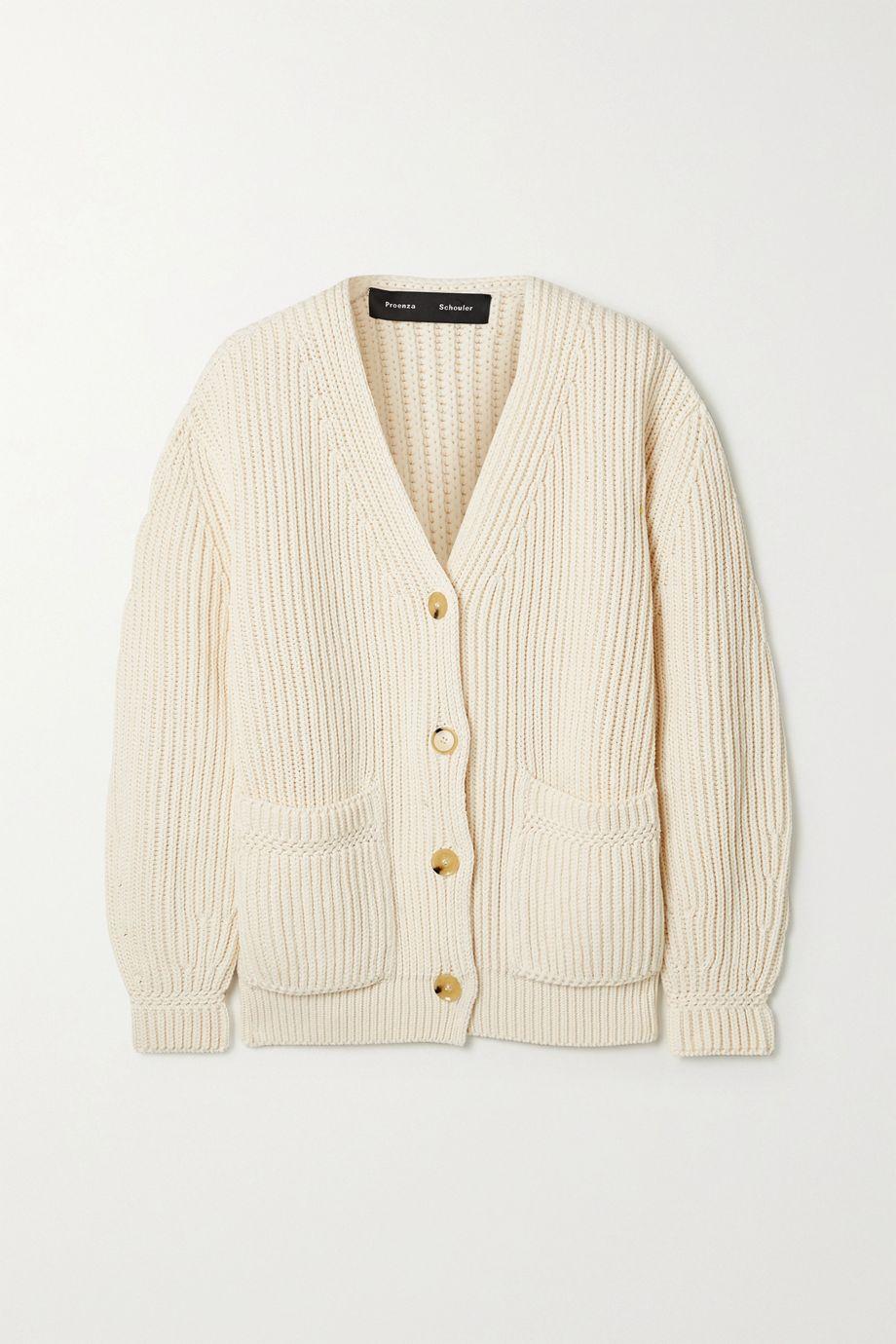Proenza Schouler Ribbed cotton cardigan