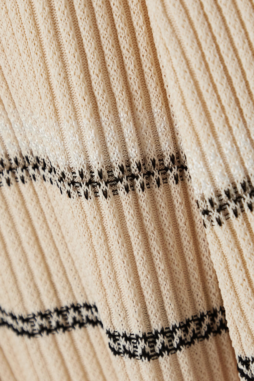 Proenza Schouler Midikleid aus Rippstrick mit Streifen
