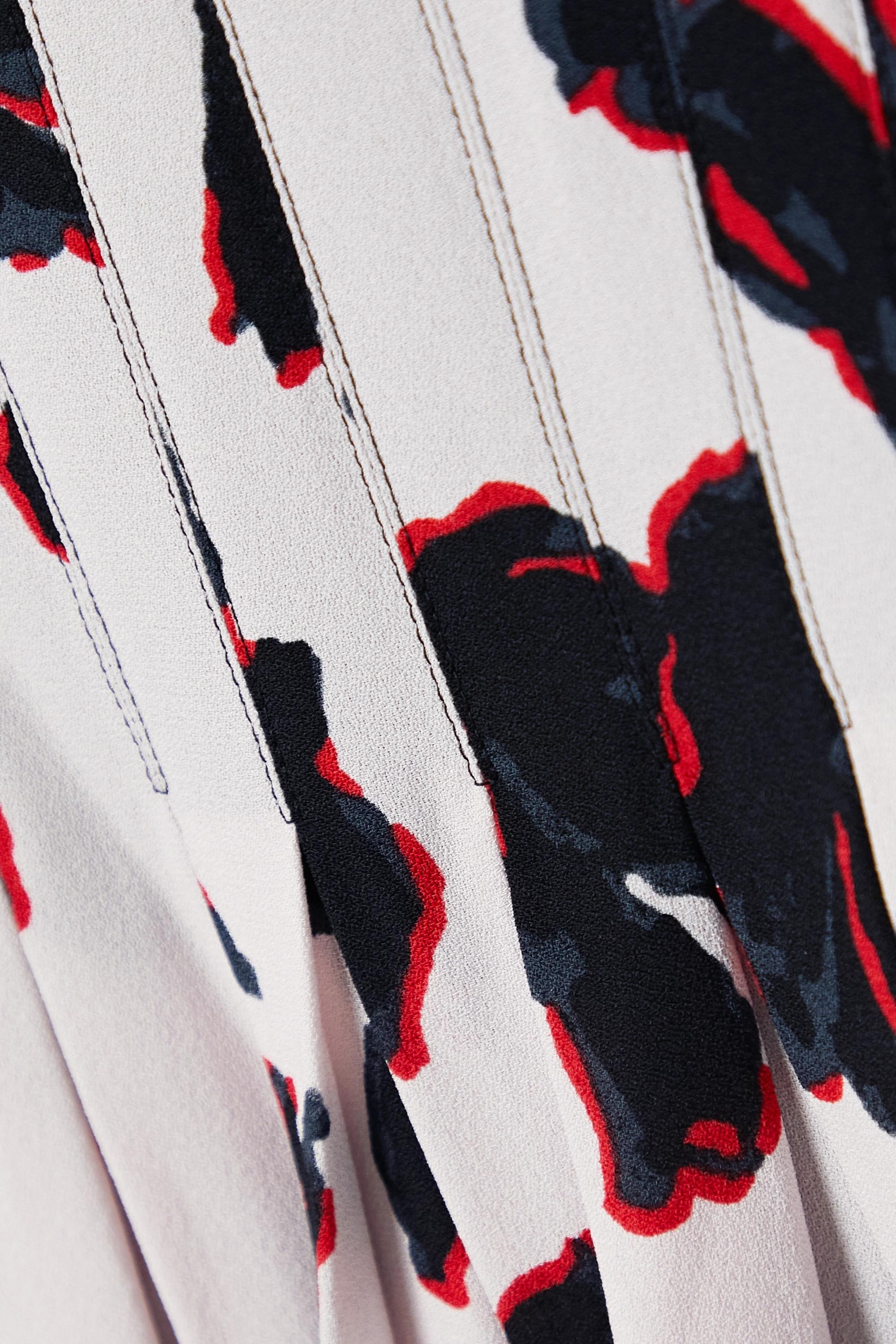 Proenza Schouler Pleated floral-print georgette midi skirt