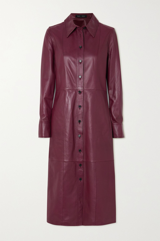 Proenza Schouler Hemdblusenkleid aus Leder