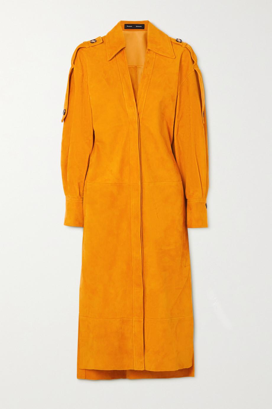 Proenza Schouler Hemdblusenkleid aus Veloursleder