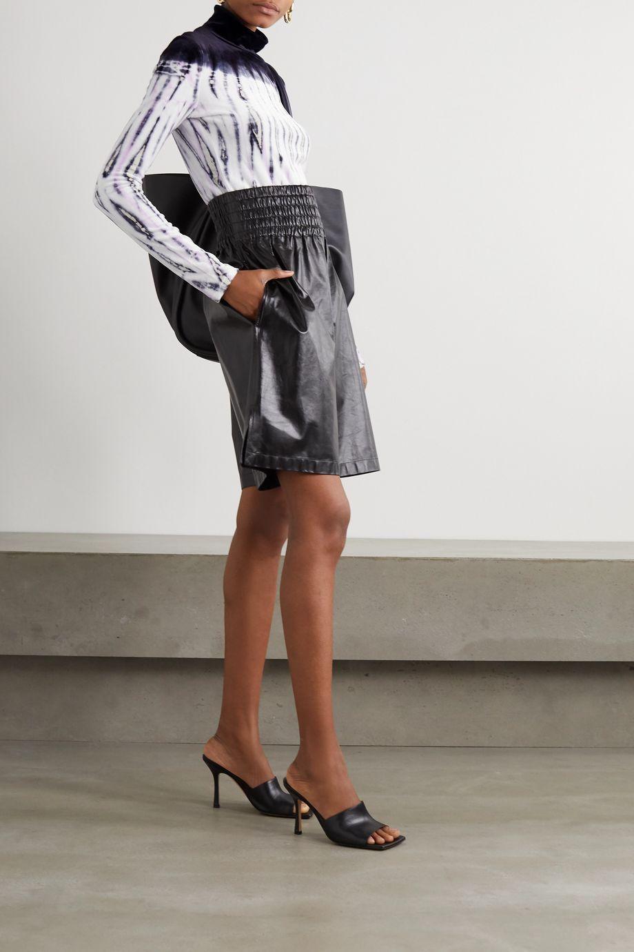 Proenza Schouler Tie-dyed velvet turtleneck top