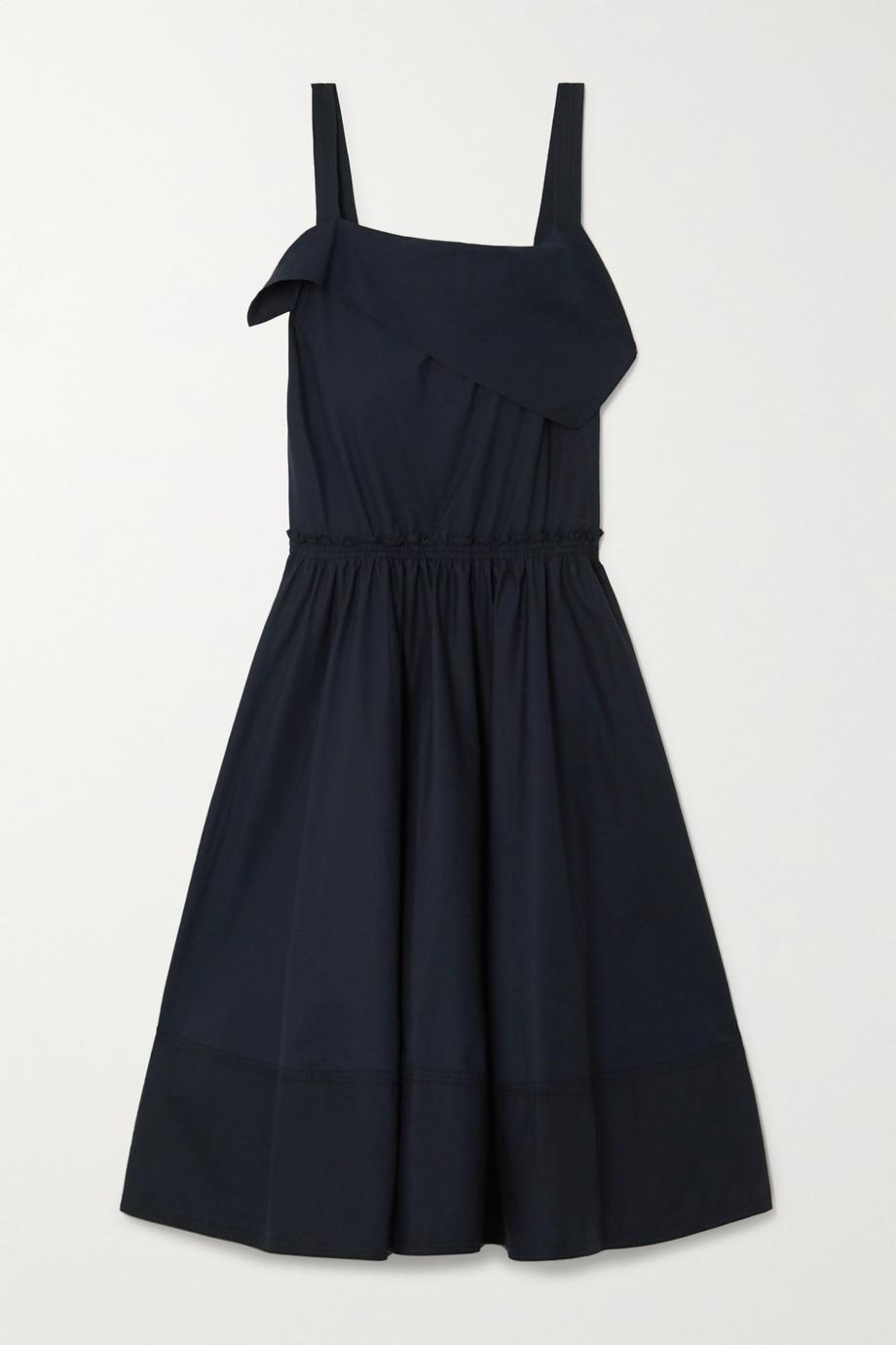 Proenza Schouler White Label Draped cotton-poplin midi dress