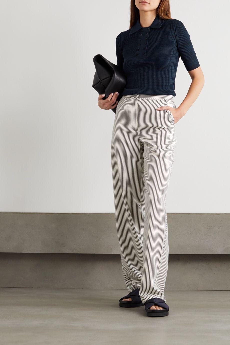 Proenza Schouler White Label Mélange silk-blend polo shirt