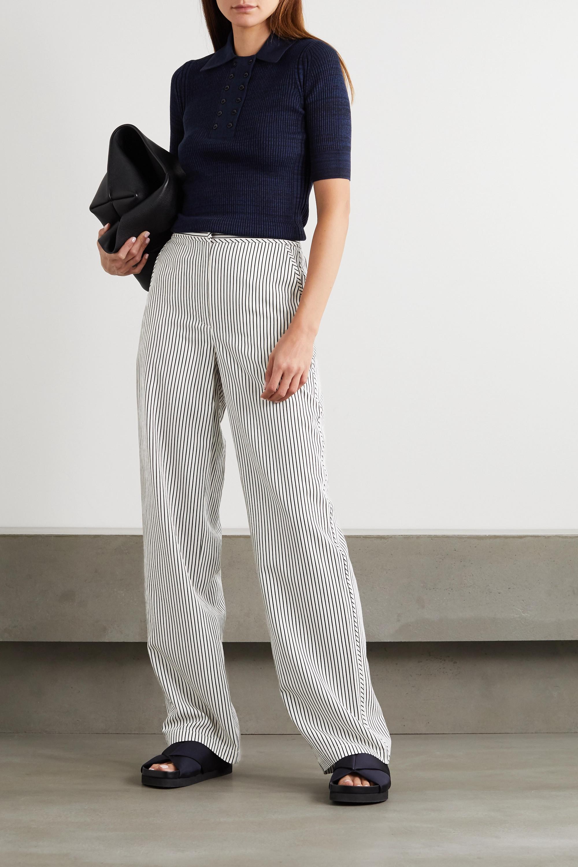 Proenza Schouler White Label Striped crepe wide-leg pants