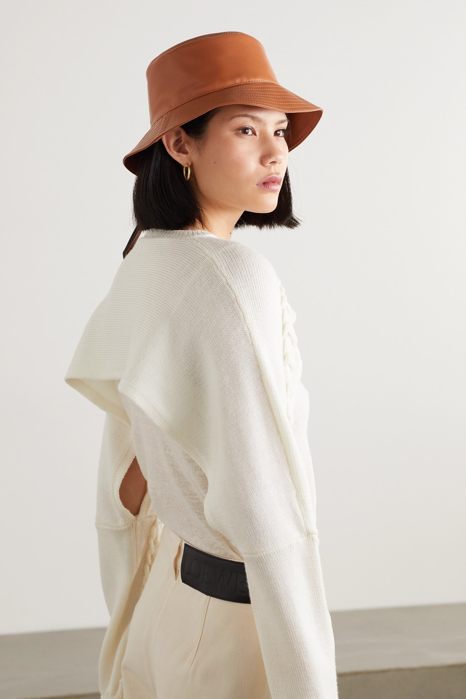 Loewe Appliquéd leather bucket hat