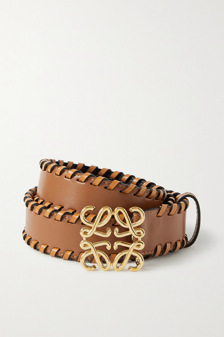 Loewe Whipstitched leather belt