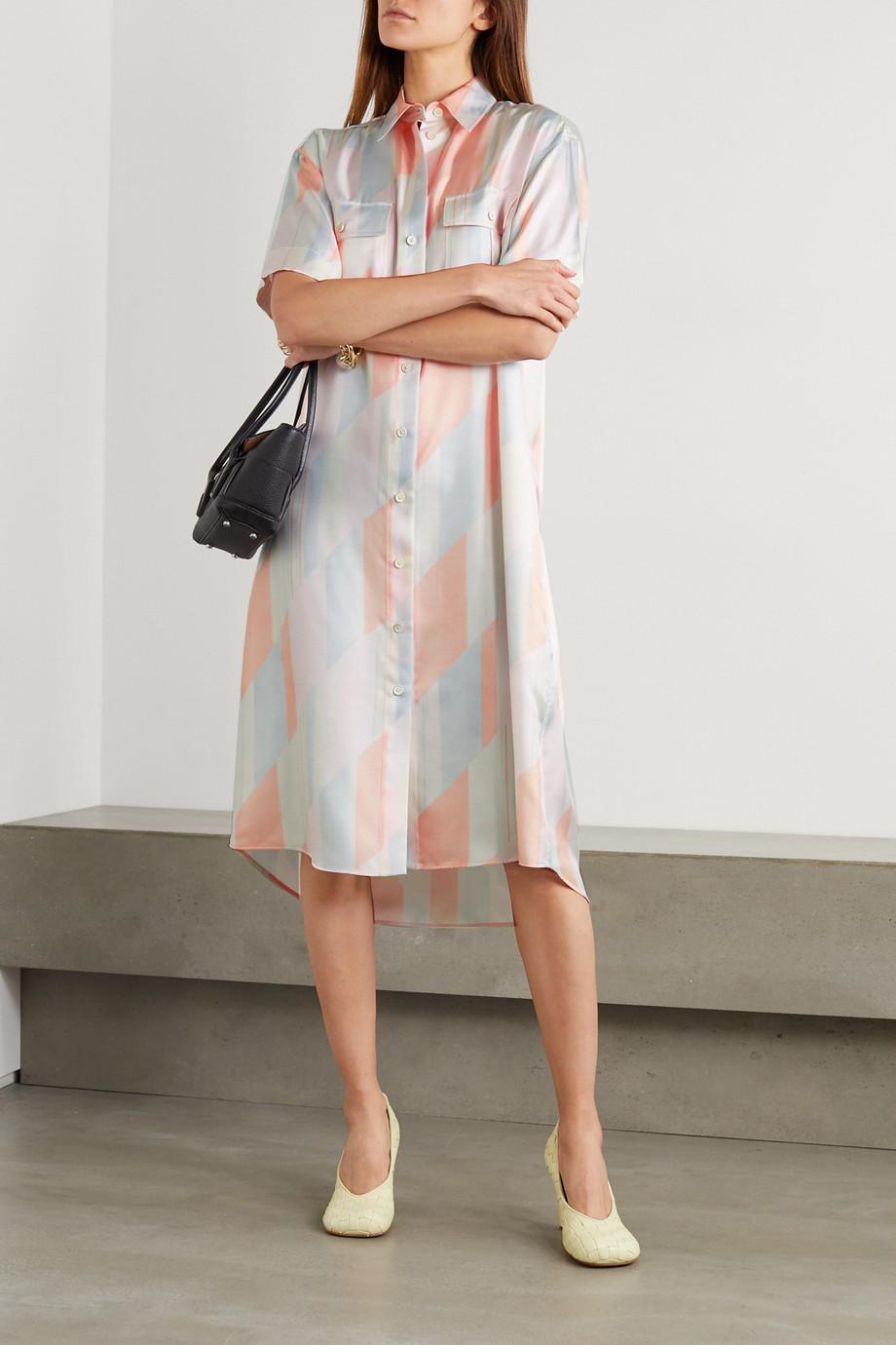 Jil Sander Printed silk-twill shirt dress