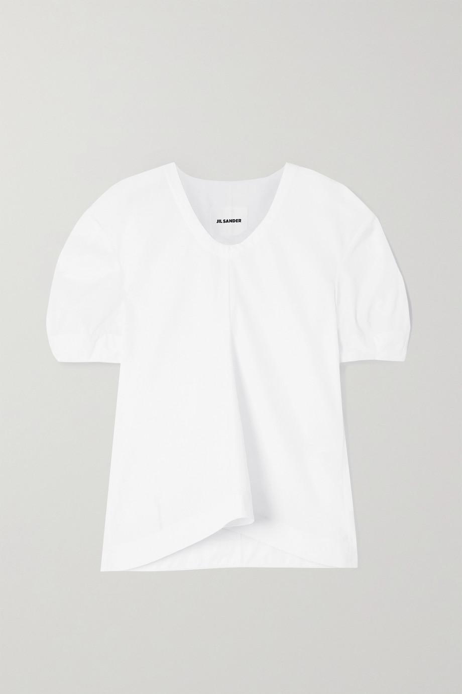 Jil Sander Pleated cotton-poplin blouse