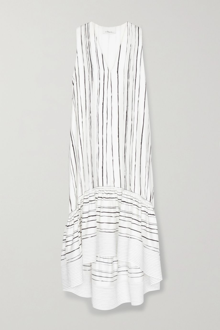 3.1 Phillip Lim Tiered striped silk midi dress
