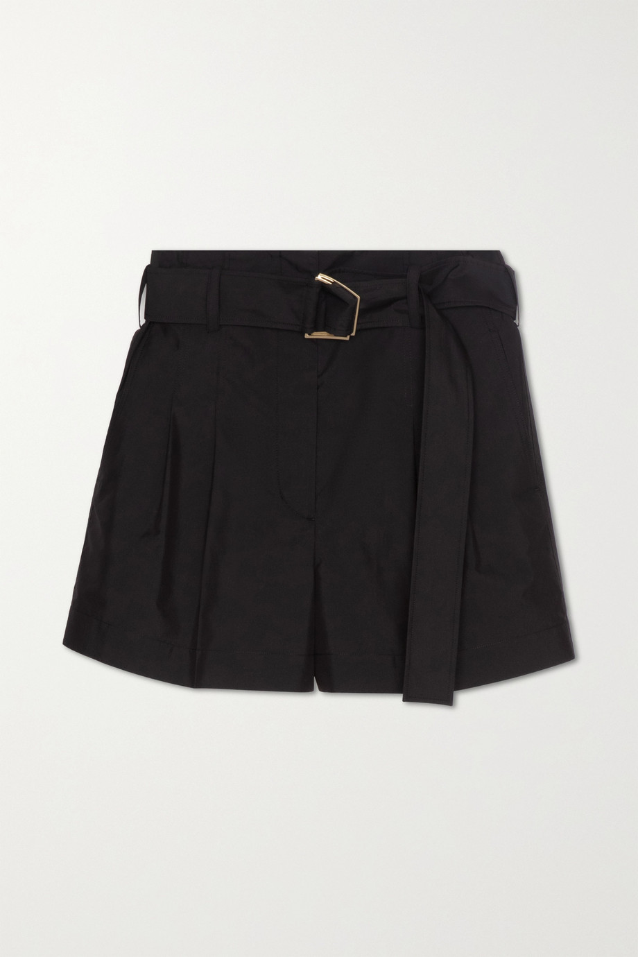 3.1 Phillip Lim Belted pleated cotton-blend shorts