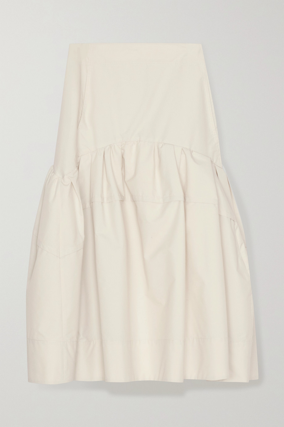 3.1 Phillip Lim Gathered cotton-blend poplin midi skirt