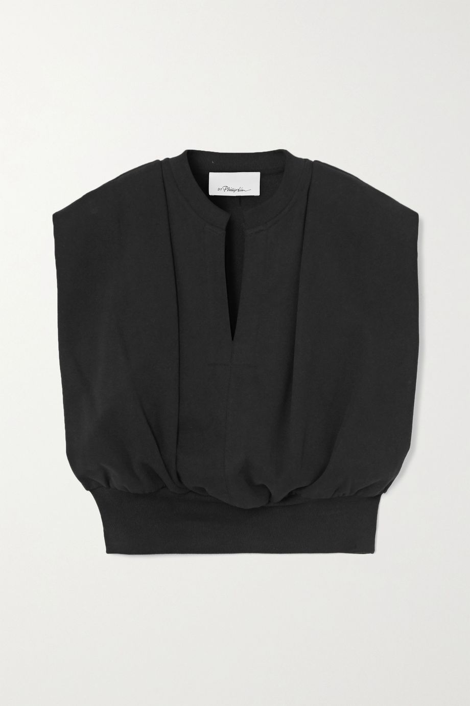 3.1 Phillip Lim Cropped French cotton-terry top