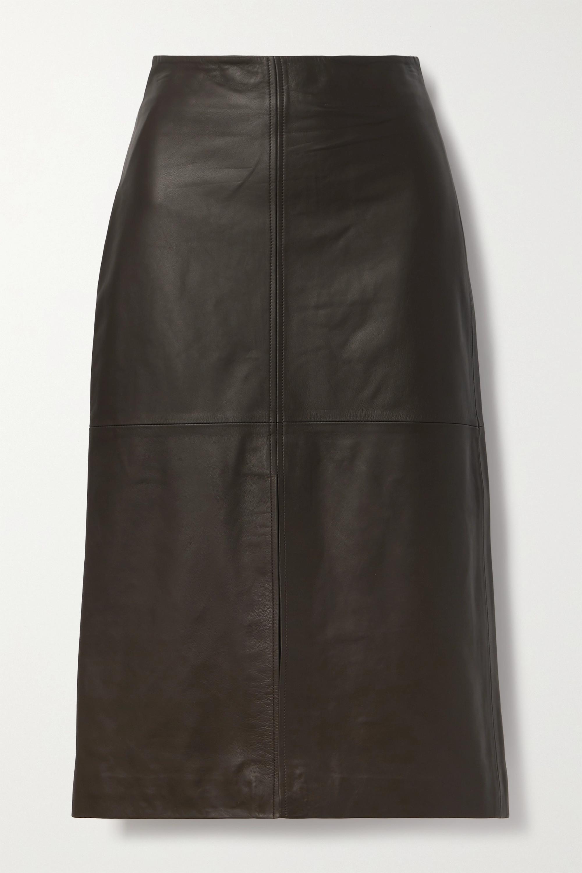 Co Leather midi skirt