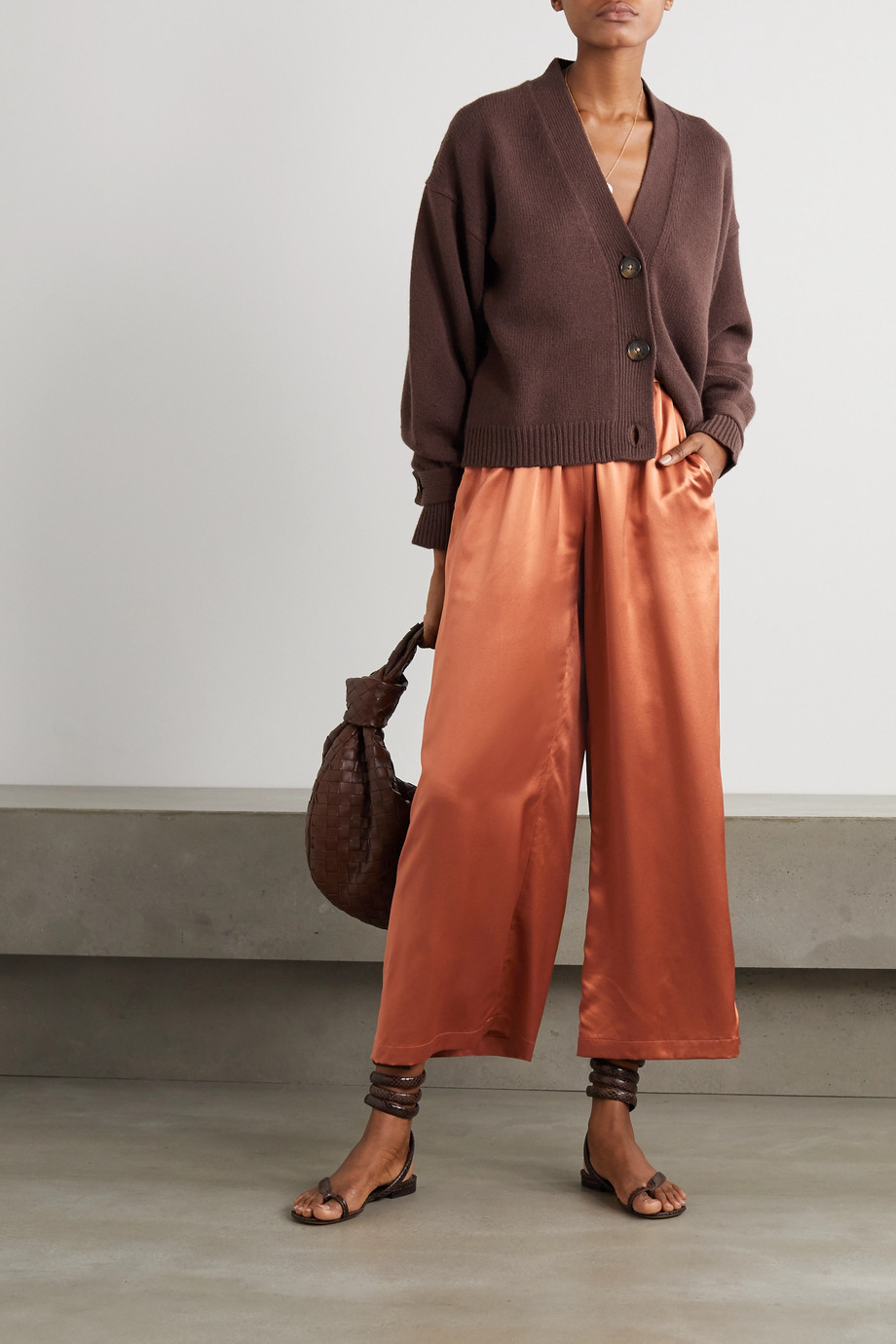 Co Silk-satin wide-leg pants
