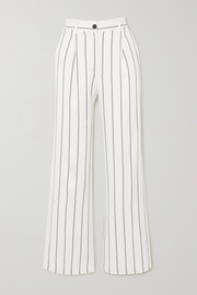 Anine Bing Ryan striped herringbone-jacquard straight-leg pants