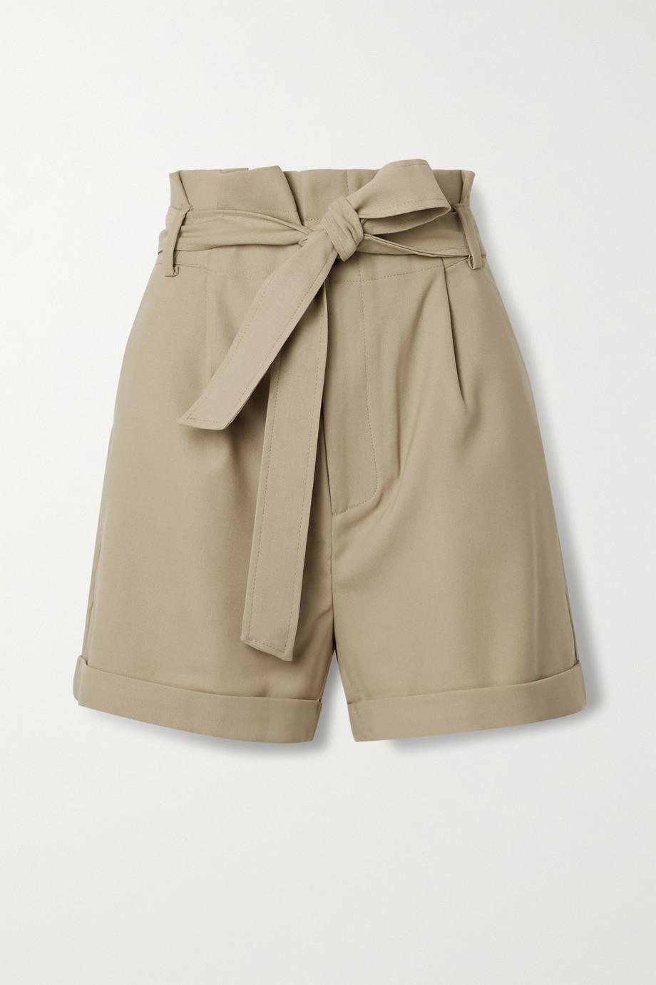 Anine Bing Kinsley 配腰带粒纹面料短裤