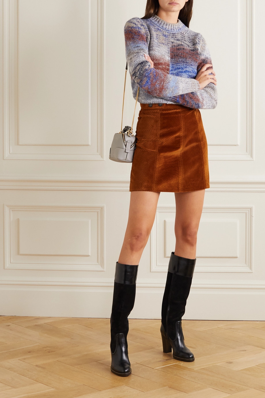 Vanessa Bruno Panpi cotton-blend corduroy mini skirt
