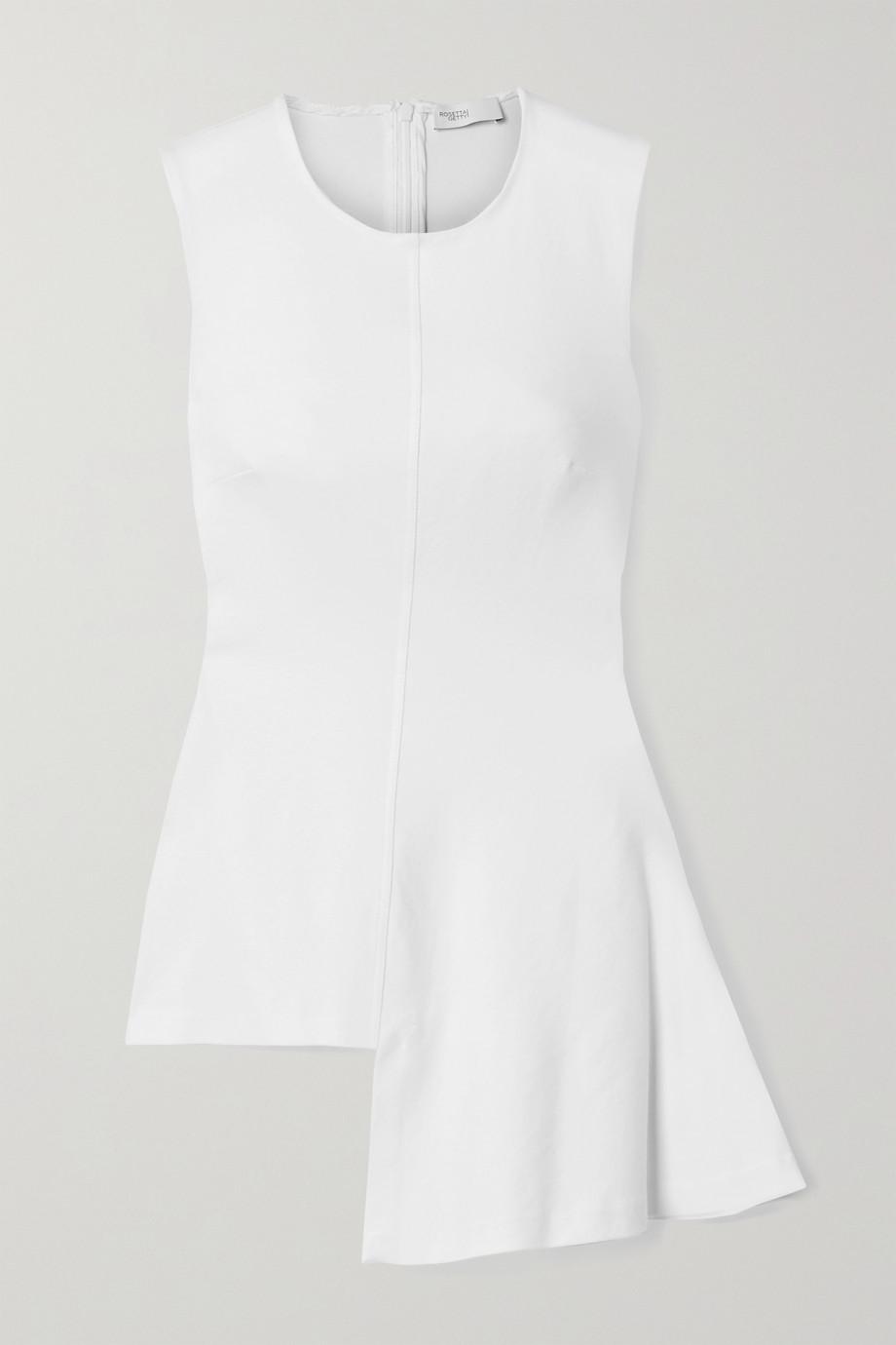 Rosetta Getty Asymmetric draped stretch-jersey top