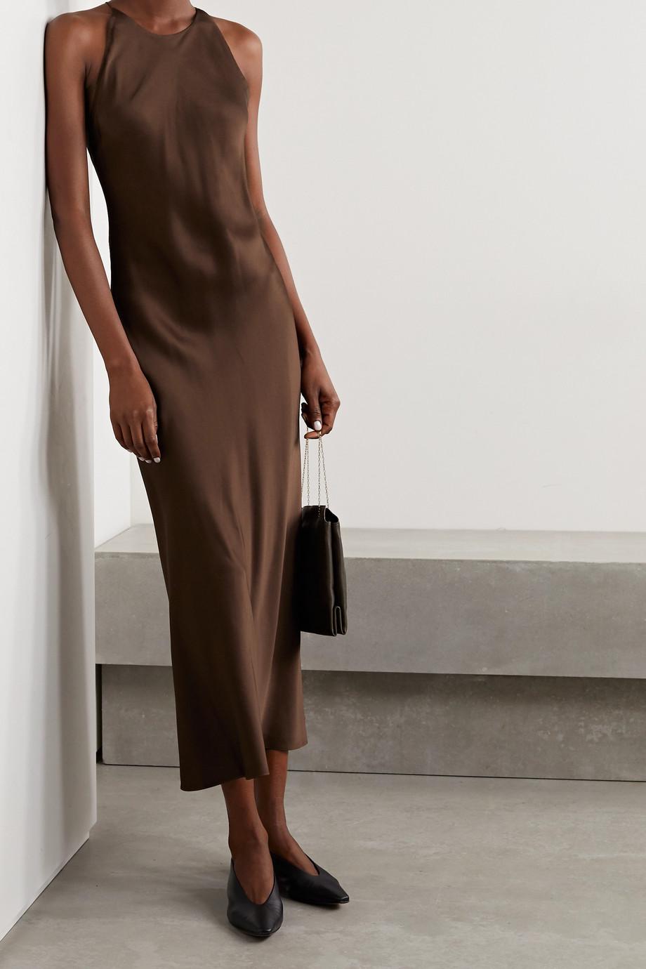 Rosetta Getty Open-back satin midi dress