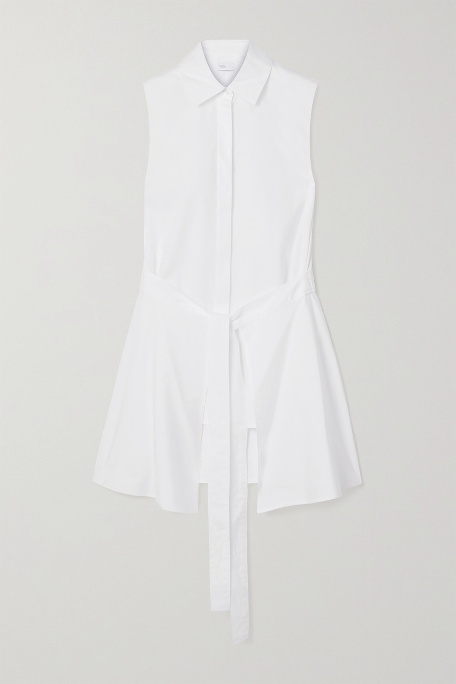 Rosetta Getty Tie-front cotton-poplin shirt
