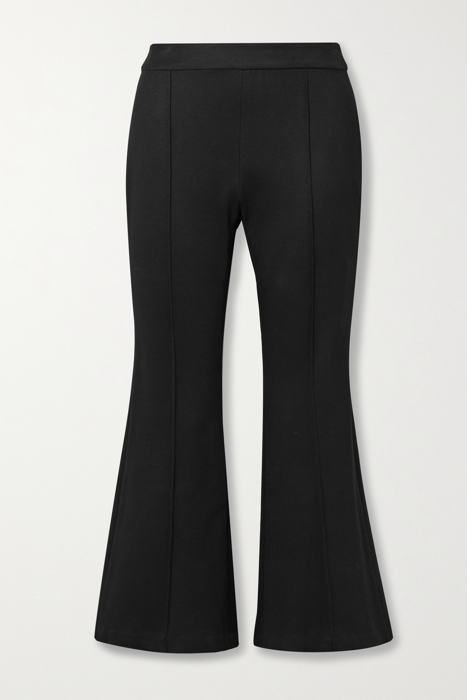 Rosetta Getty Cropped stretch-ponte flared pants