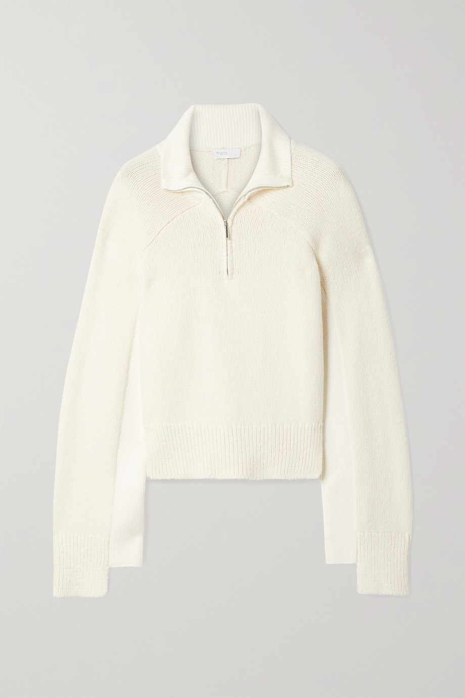 Rosetta Getty Cropped two-tone cotton-blend sweater