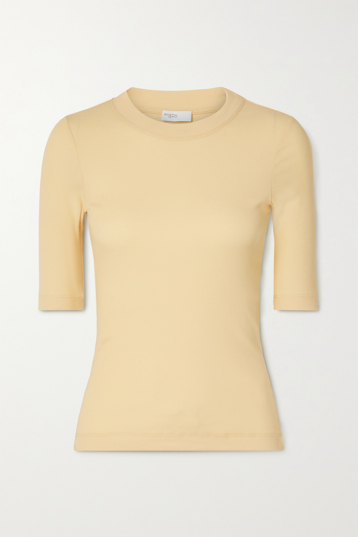 Pastel Yellow Cotton-jersey T-shirt | Rosetta Getty