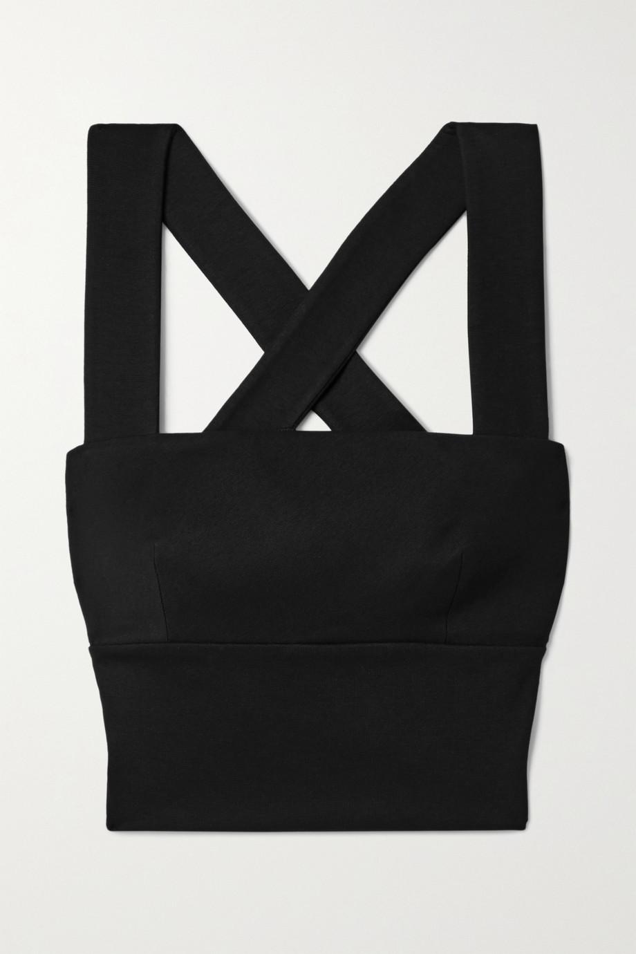 Rosetta Getty Cropped stretch-jersey top