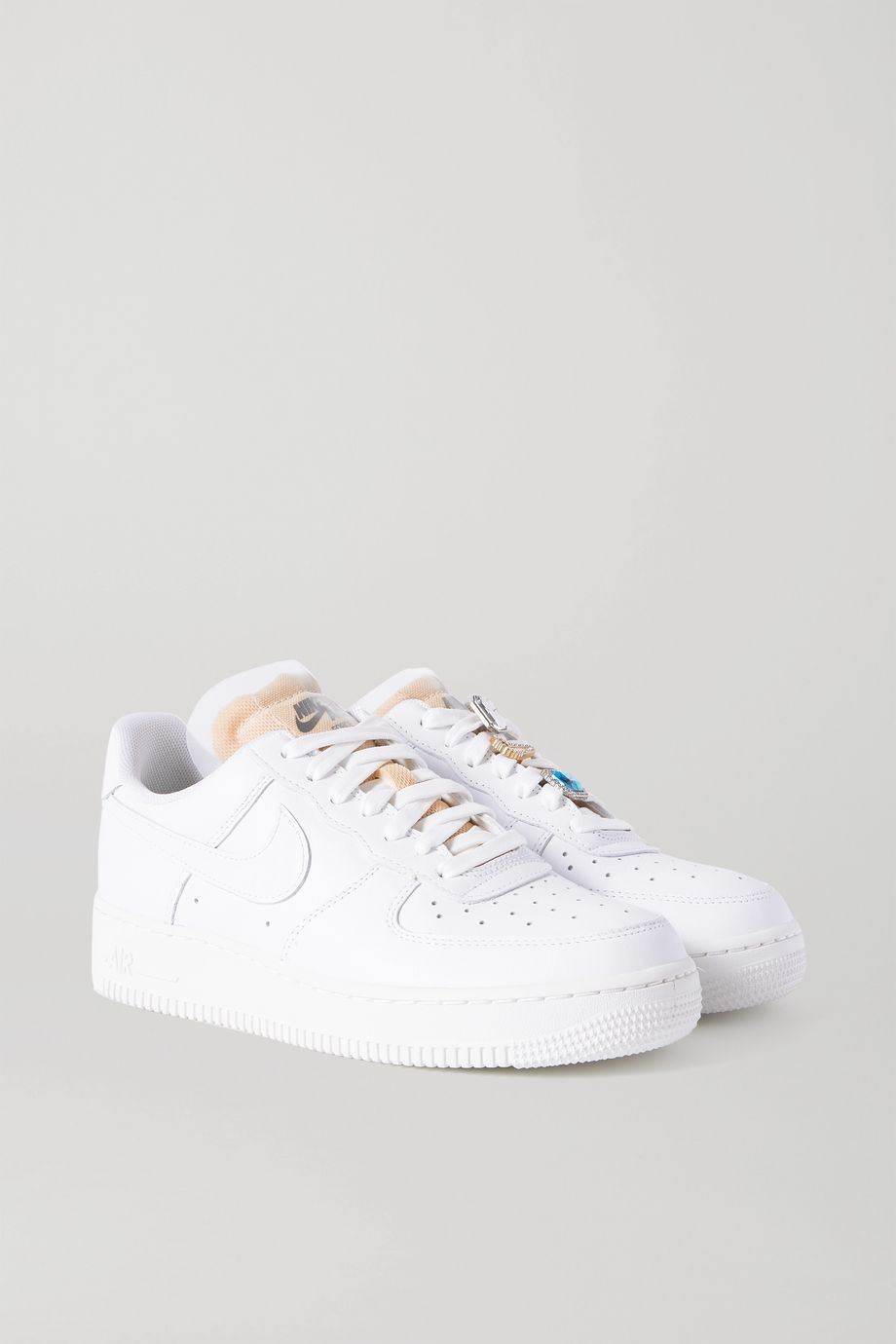 Nike Air Force 1 Gel crystal-embellished leather and mesh sneakers