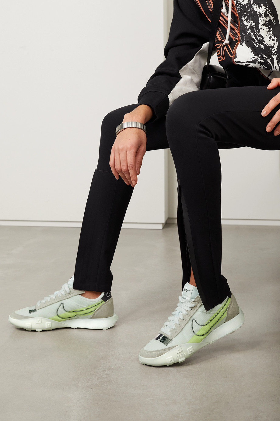 Nike Waffle Racer 2X rubber-trimmed ripstop and suede sneakers