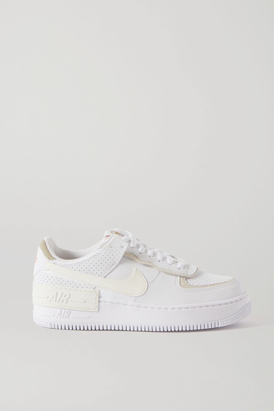 Nike Air Force 1 Shadow Sneakers aus Leder mit Velourslederbesatz