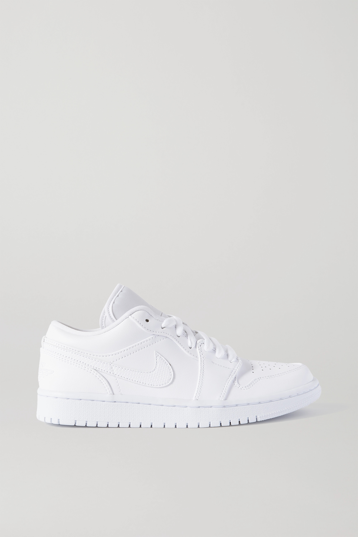 White Air Jordan 1 Low leather sneakers