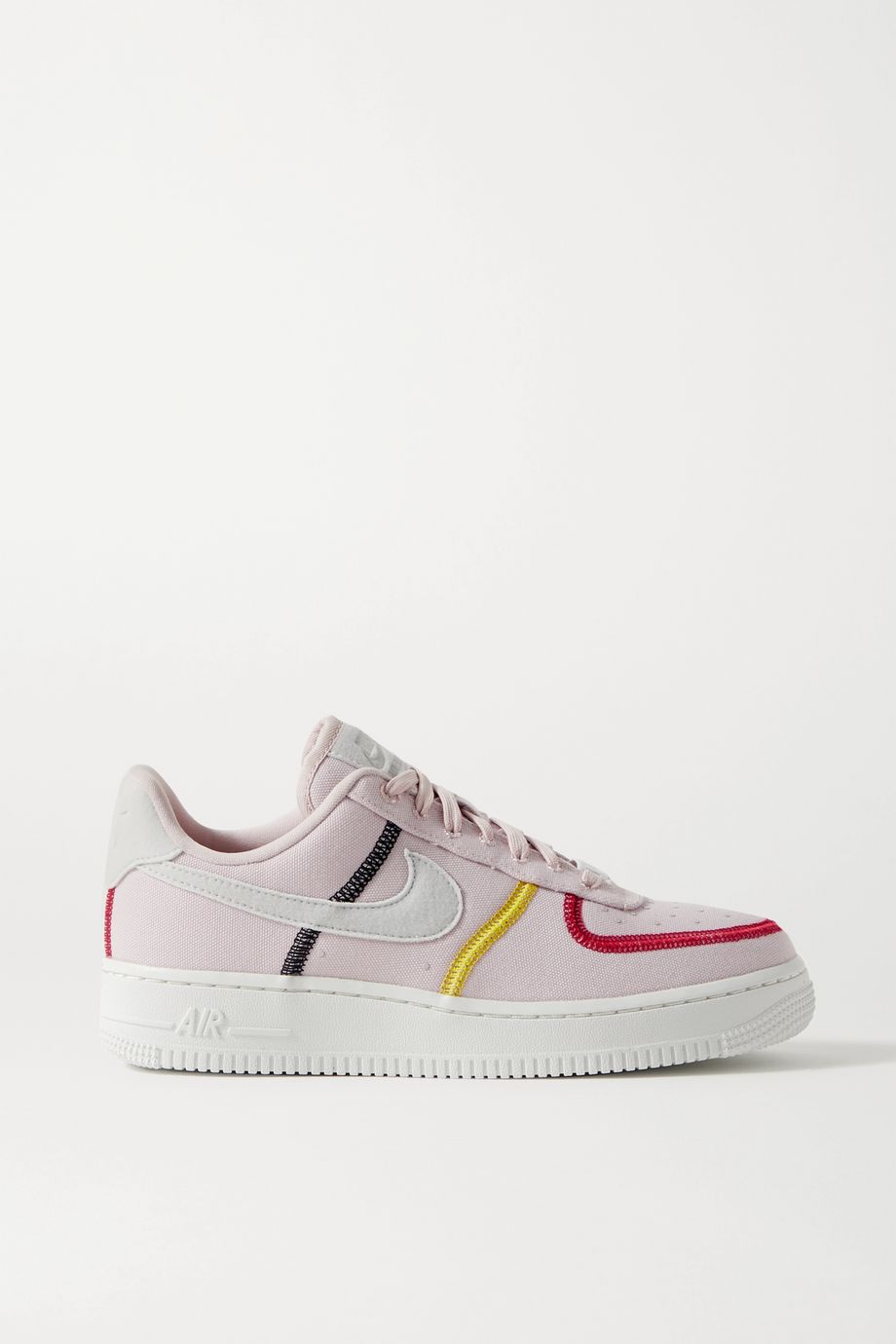 Nike Air Force 1 '07 suede-trimmed canvas sneakers