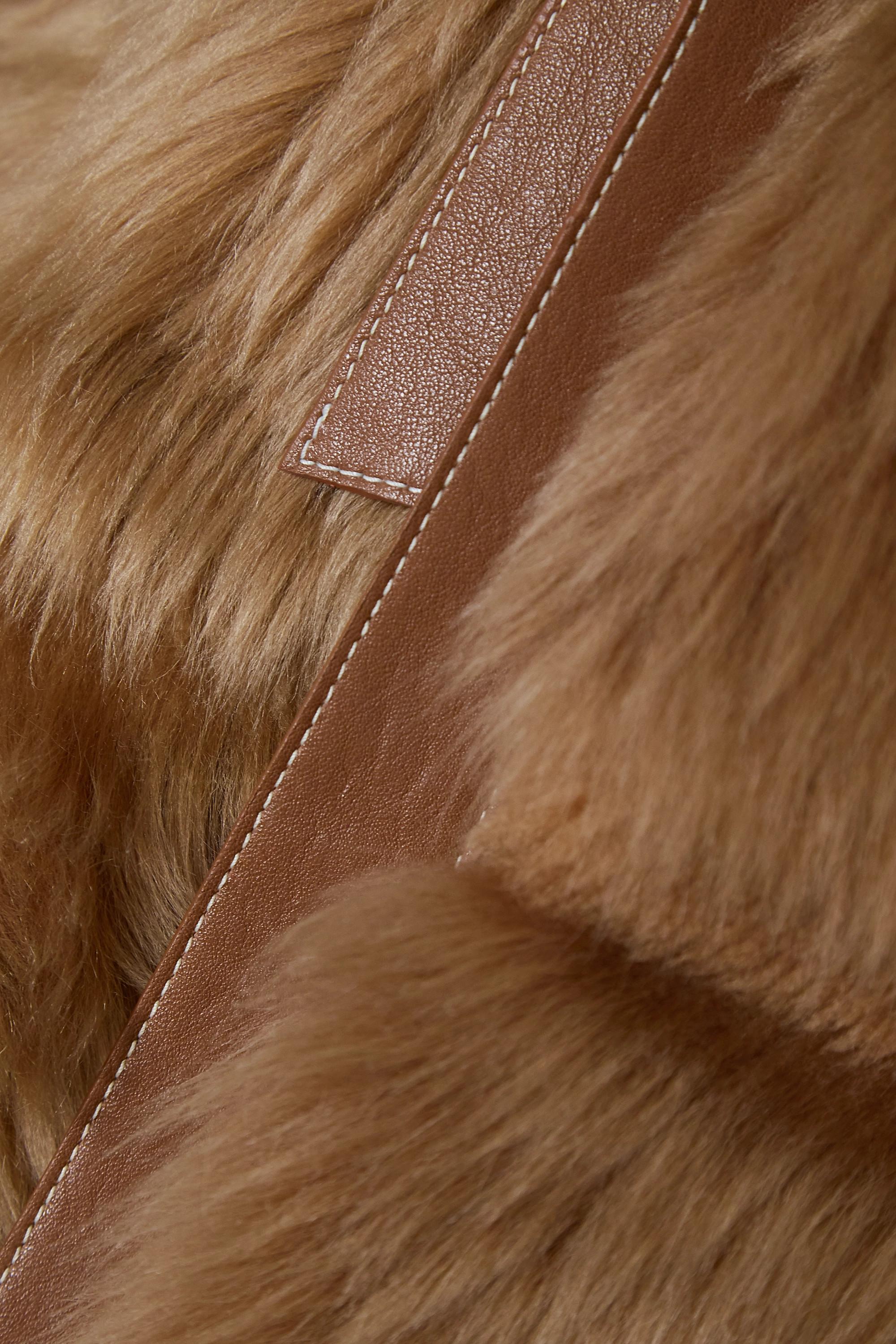 Chloé Leather-trimmed shearling vest