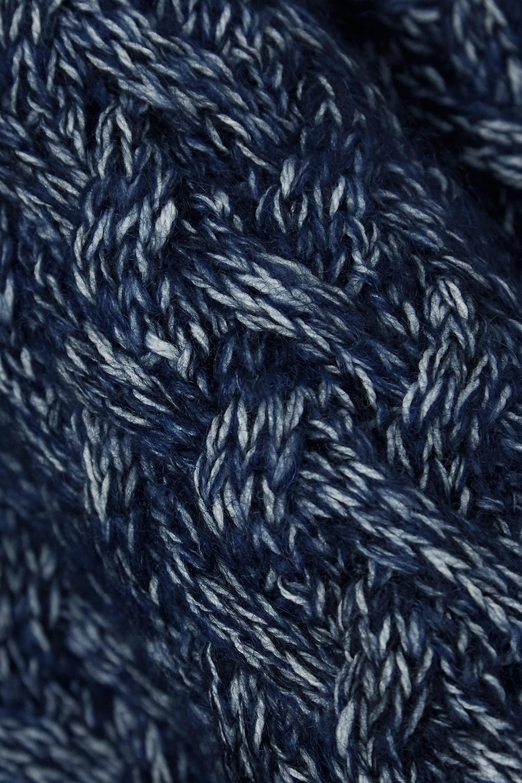 Chloé Pullover aus einer melierten Wollmischung in Zopfstrick