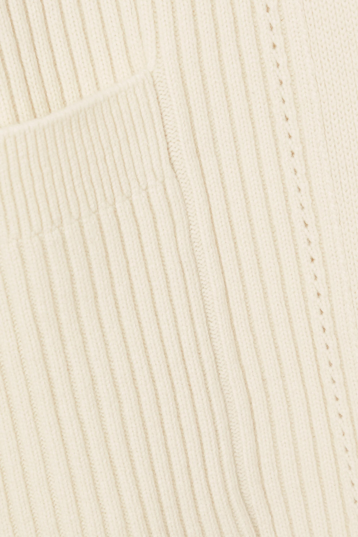 Chloé Ribbed wool and silk-blend cardigan