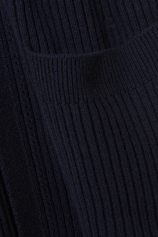 Chloé Cardigan en laine et soie mélangées côtelées