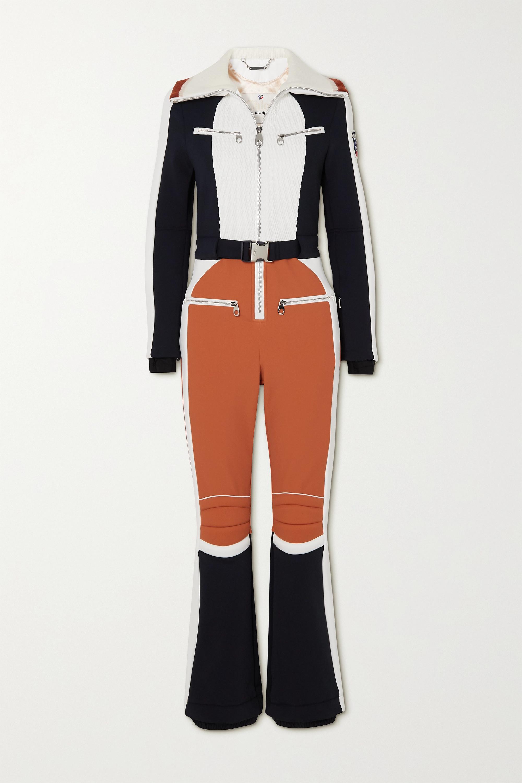 Chloé Combinaison de ski à empiècements en laine et à ceinture x Fusalp