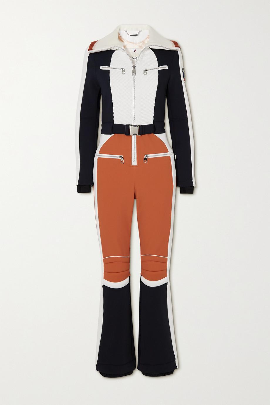 Chloé + Fusalp belted wool-trimmed paneled ski suit