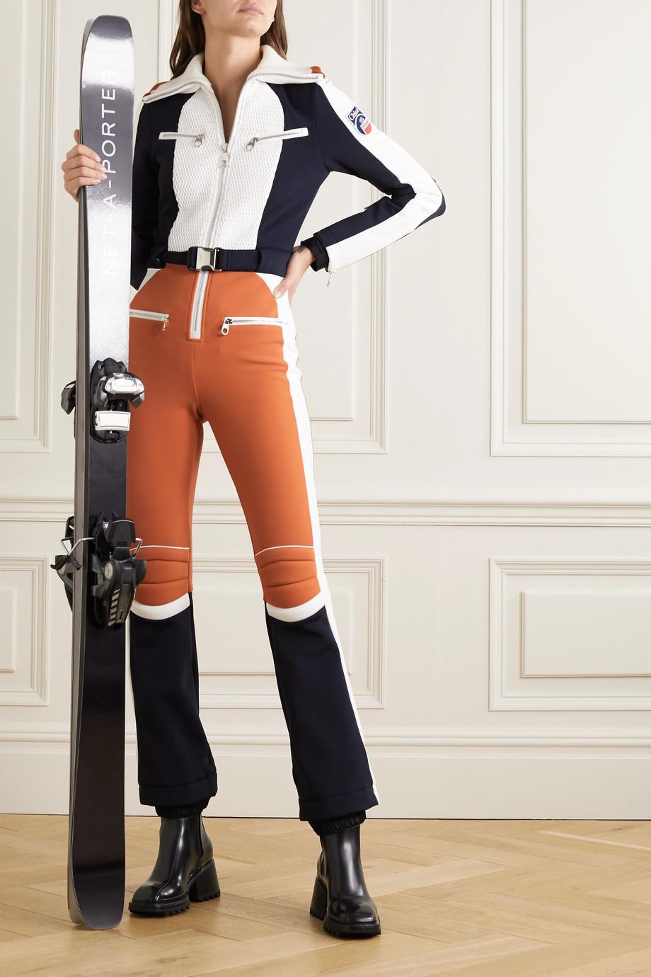 Chloé Combinaison de ski à empiècements en mailles côtelées et à ceinture x Fusalp