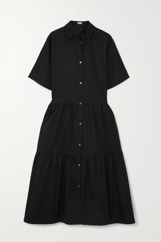 Co Tiered cotton-poplin midi shirt dress